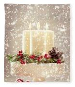 Christmas Candles Fleece Blanket