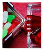 Christmas Candy - Candy Dish - Sweets - Treats Fleece Blanket