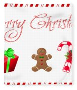 Christmas Card 25 Fleece Blanket