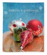 Christmas Card 6 Fleece Blanket