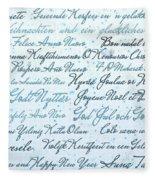 Christmas Card Multi Language  Fleece Blanket