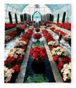 Christmas Card Sunken Garden Fleece Blanket