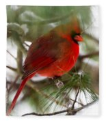 Christmas Cardinal Fleece Blanket