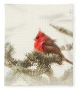 Christmas Cardinal Fleece Blanket