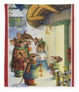Christmas Carols Fleece Blanket