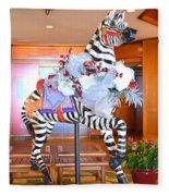 Christmas Carousel Zebra Fleece Blanket