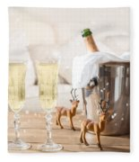 Christmas Champagne Fleece Blanket