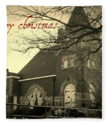Christmas Chapel Fleece Blanket
