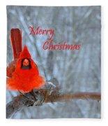 Christmas Red Cardinal Fleece Blanket