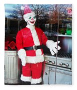 Christmas Clown Fleece Blanket
