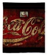 Christmas Coca Cola 1881 Santa Fleece Blanket