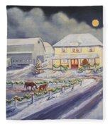 Christmas Corral Fleece Blanket