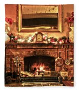 Christmas Cosy Corner Fleece Blanket