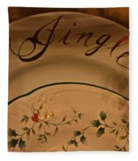 Christmas Dinnerware Fleece Blanket