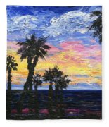 Christmas Eve In Redondo Beach Fleece Blanket
