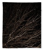 cHRISTMAS eVE sNOW Fleece Blanket