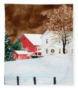 Christmas Farm Fleece Blanket