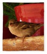 Christmas Finch Fleece Blanket