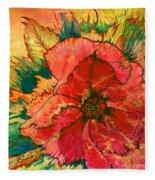 Christmas Flower Fleece Blanket
