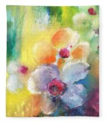 Christmas Flowers For Mom 01 Fleece Blanket