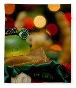 Christmas Frog Fleece Blanket
