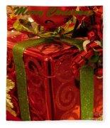 Christmas Greeting Fleece Blanket