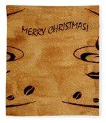 Christmas Greeting Fleece Blanket by Georgeta  Blanaru