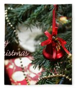 Christmas Greetings Fleece Blanket