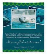 Christmas Greetings Fleece Blanket