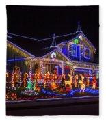 Christmas House Fleece Blanket