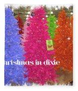 Christmas In Dixie Fleece Blanket