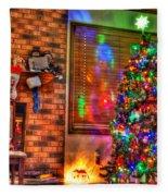 Christmas In Hdr Fleece Blanket
