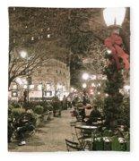 Christmas In Manhattan Fleece Blanket
