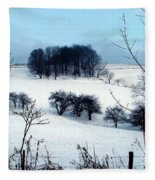 Christmas In The Hills Fleece Blanket