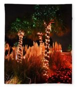 Christmas In The Sand Fleece Blanket