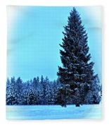 Christmas In The Valley Fleece Blanket