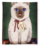 Christmas Kitten Fleece Blanket