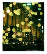 Christmas Lights In Oxford Streeet Fleece Blanket
