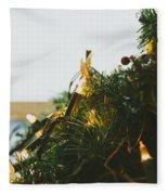 Christmas Lights Fleece Blanket