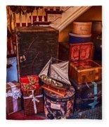 Christmas Luggage Color Fleece Blanket