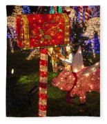Christmas Mailbox Fleece Blanket
