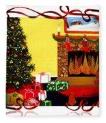 Christmas - Memories - Ribbons - Bows Fleece Blanket