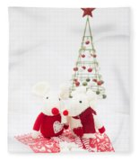 Christmas Mice Fleece Blanket