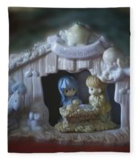 Christmas Nativity Scene Fleece Blanket