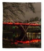 Christmas On Caveman Bridge Fleece Blanket