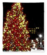 Christmas On Public Square Three Fleece Blanket