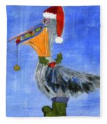 Christmas Pelican Fleece Blanket