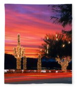Christmas, Phoenix, Arizona, Usa Fleece Blanket