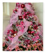Christmas Pink Fleece Blanket