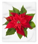Christmas Poinsettia  Fleece Blanket